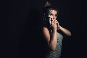 girl with a pistol